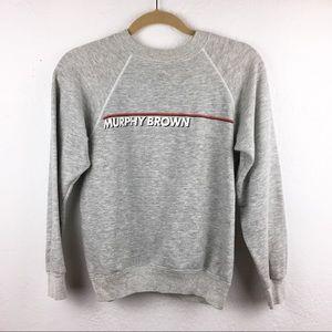 Vintage 90s Murphy Brown Grey Graphic Sweatshirt